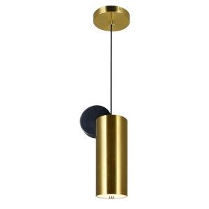 Saleen Brass Black Six-Inch LED Round Mini Pendant