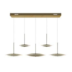 Ovni Brass Five-Light LED Chandelier