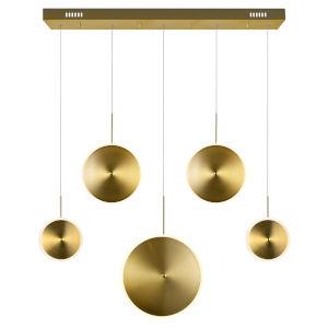 Ovni Brass 43-Inch Five-Light LED Chandelier