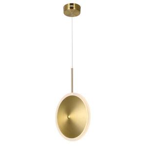 Ovni Brass Eight-Inch LED Mini Pendant
