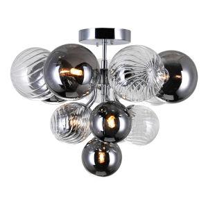 Pallocino Chrome Six-Light LED Semi-Flush Mount