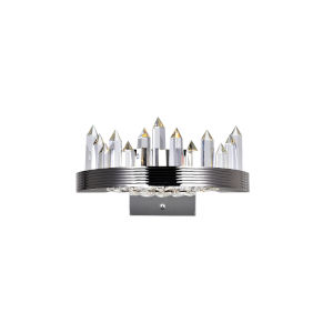 Agassiz Polished Nickel 12-Inch LED Wall Sconce