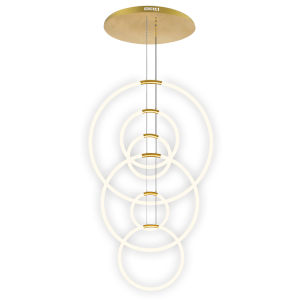 Hoops Satin Gold Six-Light LED Chandelier