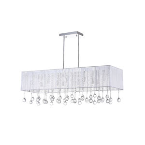 Water Drop Chrome 14-Light 14-Inch Chandelier with K9 Clear Crystal