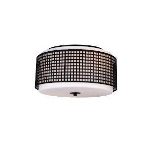 Checkered Black Two-Light Flush Mount