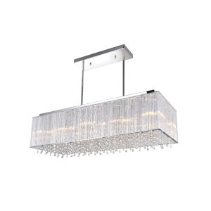 Spring Morning Chrome 10-Light Chandelier with K9 Clear Crystals