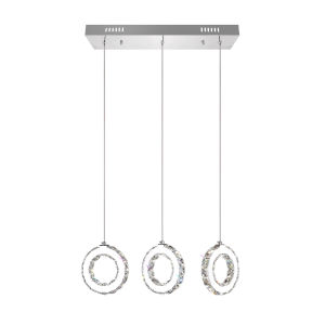 Ring Chrome 18-Light LED 24-Inch Pendant with K9 Clear Crystal