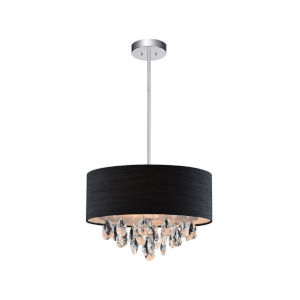 Dash Chrome Three-Light 13-Inch Chandelier with K9 Clear Crystal