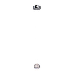 Perrier Chrome One-Light 5-Inch Mini Pendant with K9 Clear Crystal