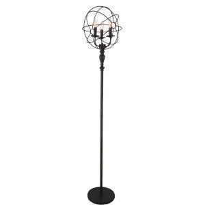 Arza Brown Three-Light Floor Lamp