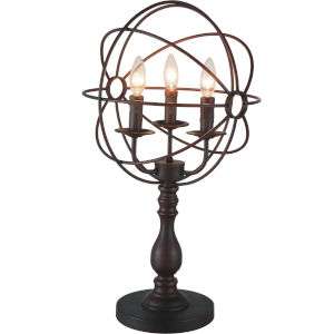 Arza Brown Three-Light Table Lamp