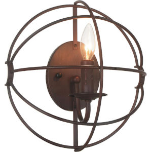 Arza Brown One-Light Wall Sconce