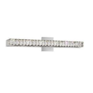 Milan Chrome Eight-Light LED Bath Vanity with K9 Clear Crystal