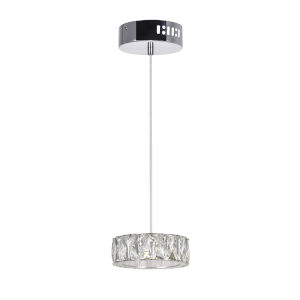 Milan Chrome Integrated LED 6-Inch Mini Pendant
