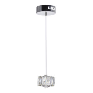 Milan Chrome Integrated LED 4-Inch Mini Pendant