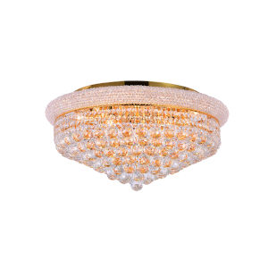 Empire Gold 13-Light Flush Mount with K9 Clear Crystal