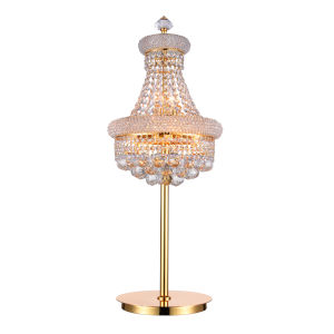 Empire Gold Six-Light Table Lamp with K9 Clear Crystal