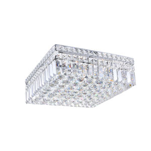 Colosseum Chrome Five-Light 14-Inch Flush Mount with K9 Clear Crystal