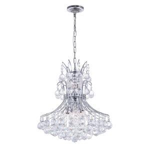 Princess Chrome Eight-Light Chandelier with K9 Clear Crystal