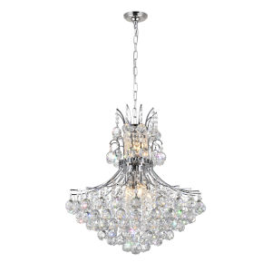 Princess Chrome 10-Light Chandelier with K9 Clear Crystal