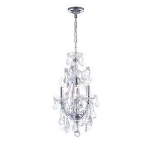 Maria Theresa Chrome Four-Light 12-Inch Chandelier with K9 Clear Crystal