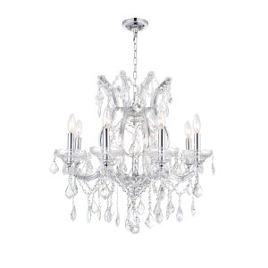 Maria Theresa Chrome Nine-Light Chandelier with K9 Clear Crystal