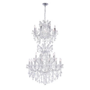Maria Theresa Chrome 34-Light Chandelier with K9 Clear Crystal