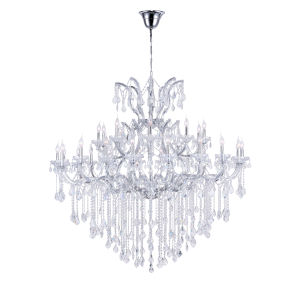 Maria Theresa Chrome 31-Light Chandelier with K9 Clear Crystal