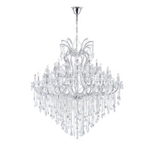 Maria Theresa Chrome 55-Light Chandelier with K9 Clear Crystal