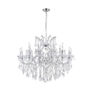 Maria Theresa Chrome 25-Light 42-Inch Chandelier with K9 Clear Crystal