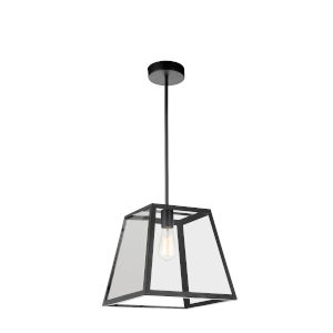 Alyson Black One-Light Pendant with Clear Glass