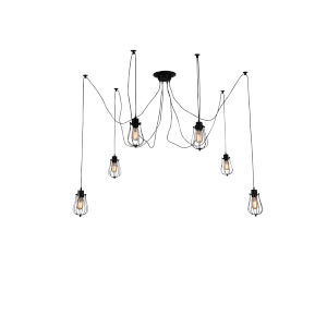 Tomaso Black Six-Light Pendant