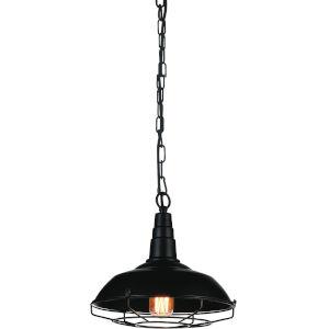 Morgan Black One-Light 11-Inch Pendant