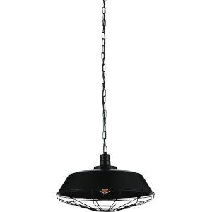 Morgan Black One-Light 18-Inch Pendant