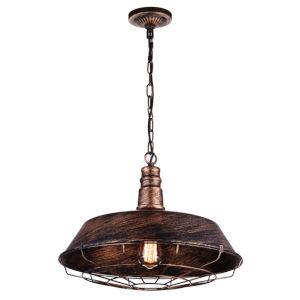 Morgan Antique Copper One-Light 18-Inch Pendant