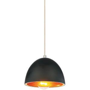 Modest Black One-Light Mini Pendant