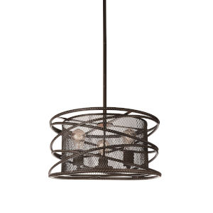 Darya Brown Three-Light Chandelier