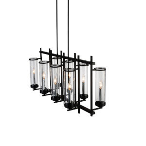 Sierra Black Eight-Light 38-Inch Chandelier