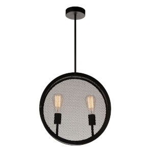 Tigris Black Two-Light Pendant