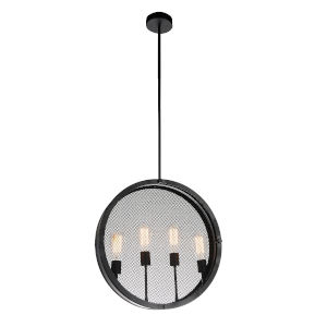 Tigris Black Four-Light Pendant