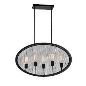 Tigris Black Five-Light Pendant