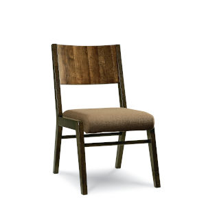 Kateri Hazelnut with Ebony Exteriors Armless Side Chair