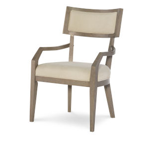 Highline by Rachael Ray Greige Klismo Arm Chair, Set of Two