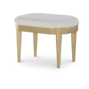 Chelsea by Rachael Ray White with Gold Accents Kids Stool