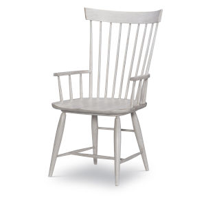Belhaven Weathered Plank Windsor Arm Chair, Set of Two