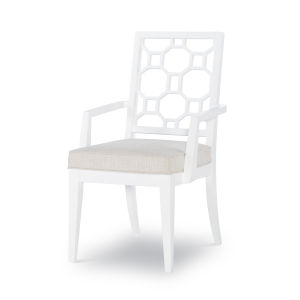 Chelsea by Rachael Ray White with Gold Accents Arm Chair, Set of Two