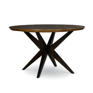 Kateri Hazelnut with Ebony Exteriors Pedestal Table