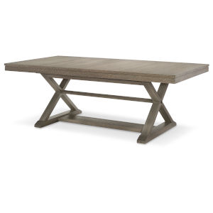 Highline by Rachael Ray Greige Trestle Table