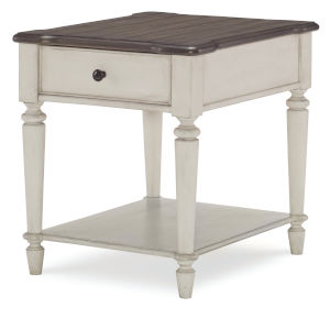 Brookhaven Vintage Linen Rustic Dark Elm End Table