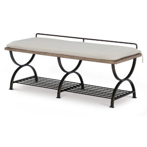 Monteverdi by Rachael Ray Sun Bleached Cypress Bed Bench